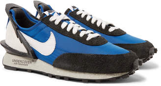 Nike Undercover Daybreak Leather-Trimmed Nylon and Suede Sneakers - Men - Blue