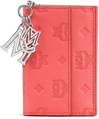 MCM Klara Monogrammed Leather Charm Wallet