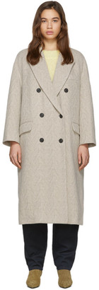 Etoile Isabel Marant Off-White Wool Ojima Coat