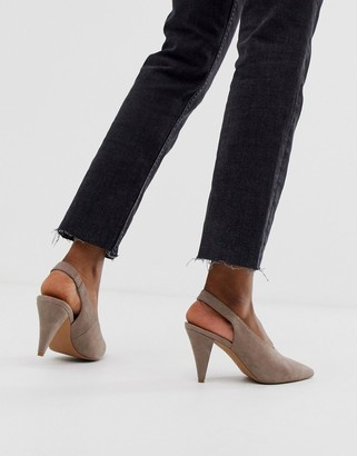 Asos Design DESIGN Stormie slingback mid heels
