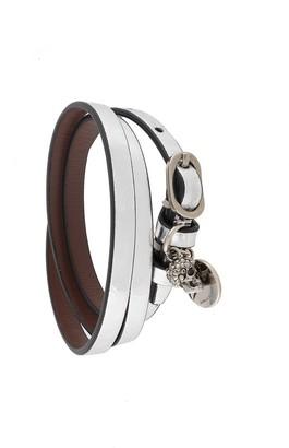 Alexander McQueen metallic Skull wrap bracelet