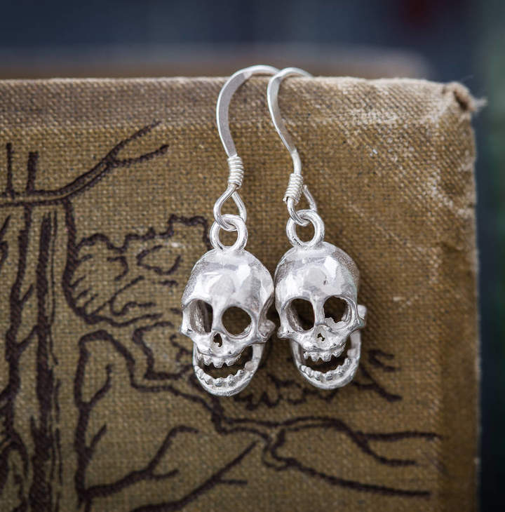 226a3f57e Womens Silver Skull Earrings - ShopStyle UK