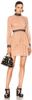 Nicholas High Neck Mini Dress in Pink.