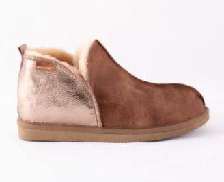 Shepherd of Sweden - Antique Cognac & Gold Annie Slipper Boot - UK 4