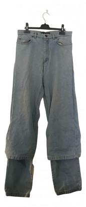 Y/Project Blue Cotton Jeans
