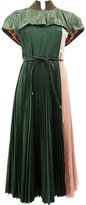 Sacai plissé pleat fusion midi dress