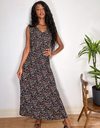 JDY maxi dress in ditsy floral