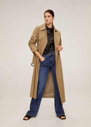 MANGO Double breasted trench tobacco brown - XS - Women