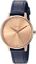 Nixon Women's A1082160-00 Kensington Leather Analog Display Japanese Quartz Blue Watch