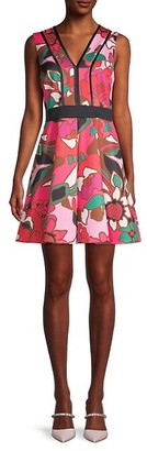 Ted Baker Floral-Print A-Line Skater Dress