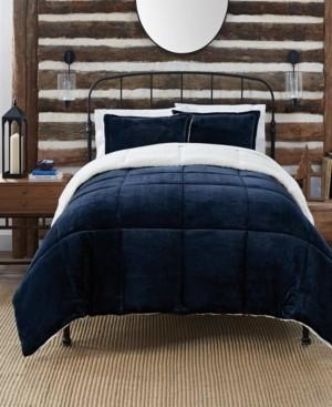 Serta Cozy Plush 3 Piece Comforter Set, King