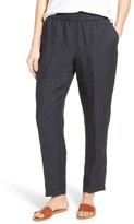 Eileen Fisher Women's Tapered Organic Linen Tapered Pants