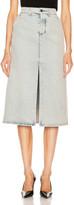 Balenciaga Pleat Skirt in 80s Dirty Bleach Blue | FWRD