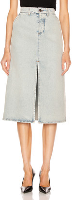 Balenciaga Pleat Skirt in 80s Dirty Bleach Blue | FWRD