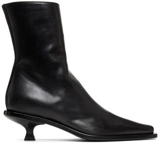 Ann Demeulemeester Black Kitten Heel Boots