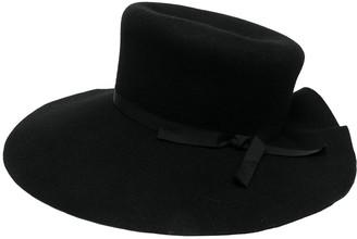 Yohji Yamamoto Wool Scalloped-Brim Hat