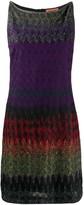 Missoni sleeveless metallic-knit silk dress