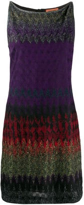 Missoni Sleeveless Metallic-Knit Silk Dress