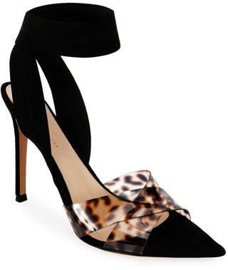 8398bdc9774e Leopard Print Ankle Strap Pumps - ShopStyle