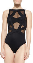 OYE Swimwear Esther Strappy Mesh One-Piece Swimsuit