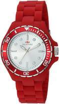Seapro Women's 'Spring' Quartz Stainless Steel and Silicone Casual Watch, Color:Red (Model: SP3214)