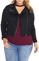 Plus Size Women's Rebel Wilson X Angels Lyocell Moto Jacket