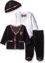 Little Me Little Charmer Infant Boys Velour Pant Outfit Black 6 MO