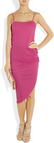 Halston Ruched crepe dress