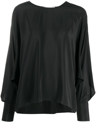 Erika Cavallini Asymmetric Silk Blouse