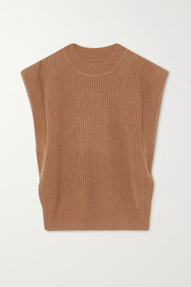 Isabel Marant Bridget Ribbed Cashmere And Wool-blend Sweater - Camel