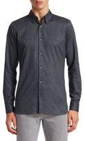 Z Zegna Brushed Cotton Button-Down Shirt