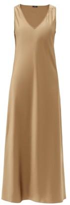 Joseph Daris V-neck Silk-satin Slip Dress - Mid Brown