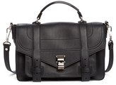 Proenza Schouler Medium Ps1+ Grainy Leather Satchel - Black