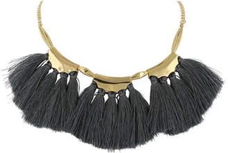 Sparkling Sage 14K Plated Tassel Necklace