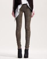 Helmut Lang Patina Leather Leggings