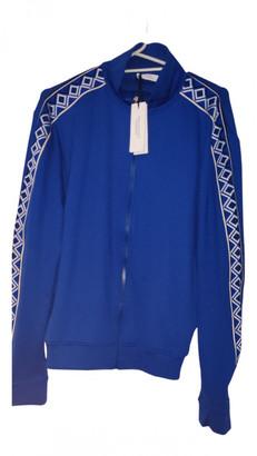Versace Blue Polyester Knitwear & Sweatshirts