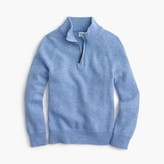 J.Crew Boys' cotton-cashmere half-zip sweater