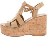 Ralph Lauren Suede Platform Wedge Sandals