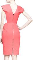 Roland Mouret Indus Cap-Sleeve Dress