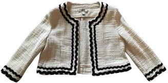 MANGO Beige Tweed Coat for Women