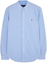 Polo Ralph Lauren Blue Piqué Cotton Oxford Shirt