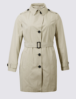 M&S Collection PLUS Trench Coat with StormwearTM