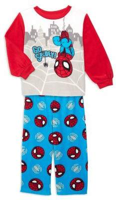 AME Sleepwear Little Boy's 2-Piece Spider-Man Pajama Top & Pants Set