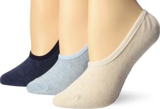 Sperry Women's Solid Canoe Liner 3-Pair Socks
