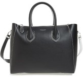 Michael Kors Large Helena Contrast Leather Satchel - Black