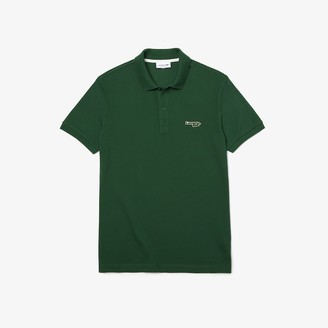 Lacoste Men's Regular Fit Solid Cotton Pique Polo With Badge