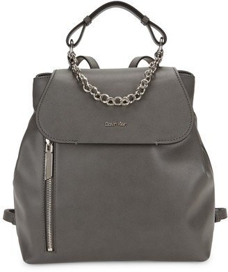 Calvin Klein The Statement Series Western Chain Faux Leather Backpack