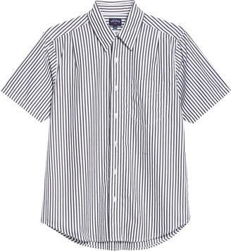 Noah Stripe Short Sleeve Cotton Shirt