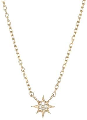 Anzie Micro Aztec North Star Diamond & Gold Necklace
