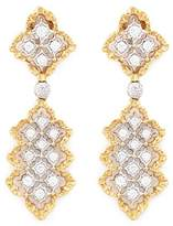 Buccellati 'Rombi Pendant' diamond 18k white and yellow gold drop earrings